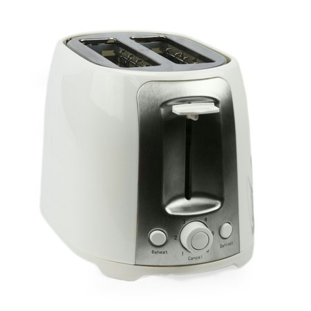 Brentwood 2 Slice Cool Touch Toaster ; White and Stainless Steel