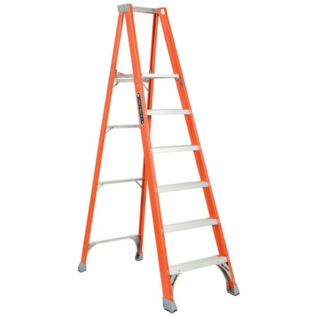 Louisville Ladder FP1506 6 ft. Fiberglass Platform Ladder, Type IA, 300 lbs Load Capacity