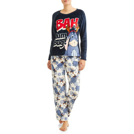 cc84c0b0ab Disney - Disney Eeyore women s and women s plus pajama set - Walmart.com