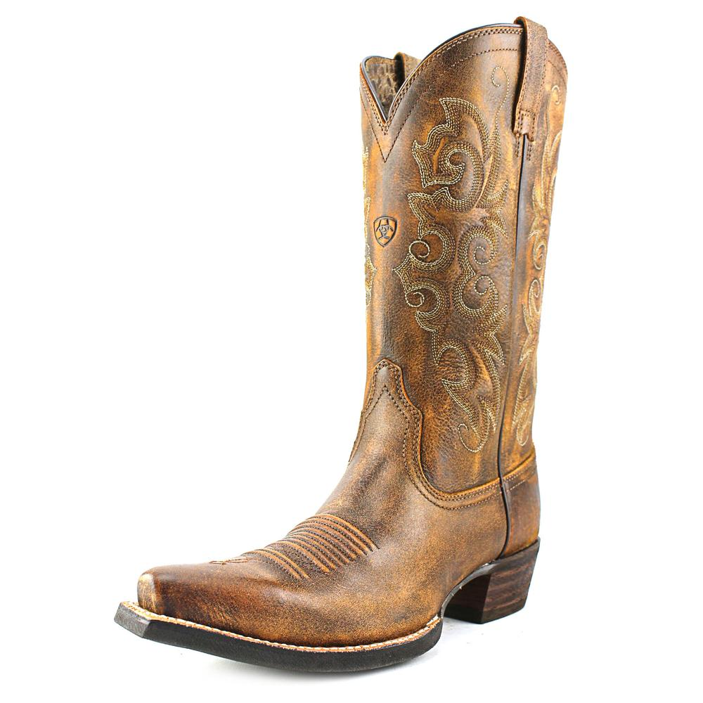 Ariat Alabama Women Pointed Toe Leather Tan Western Boot by Ariat