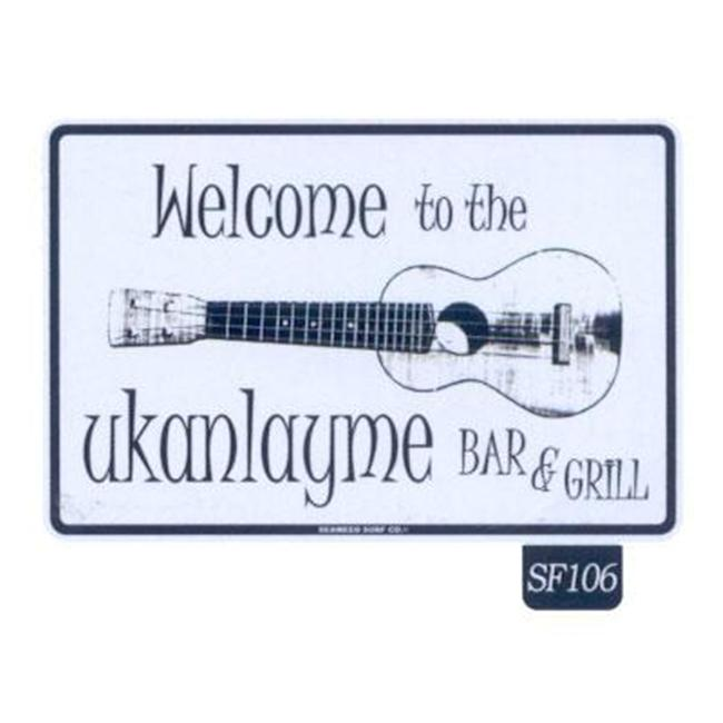 Seaweed Surf Co SF106 12X18 Aluminum Sign Ukanlayme Bar And  Grill