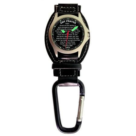 Aqua Force Analog EMT Prayer Carabiner Watch w/ Optional Strap (30M water resistant)