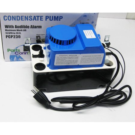 - Air Conditioning 230 VOLT Condensate Removal Pump with Safety Switch and Alarm 20 Lift