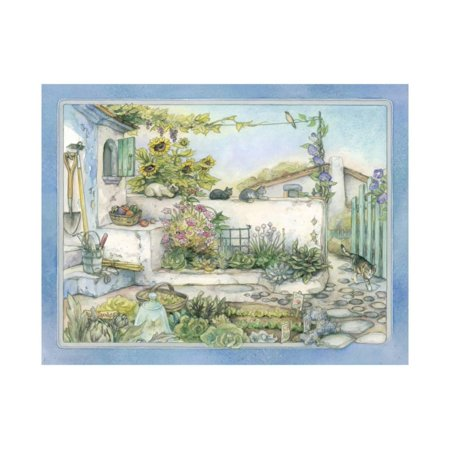 White Wall Garden Print Wall Art By Kim Jacobs