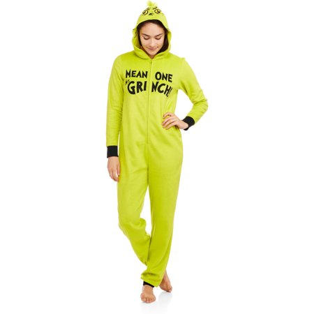 8bd2b63eaba8 Licensed - Grinch Women s Sleepwear Adult Onesie Costume Union Suit Pajama  - Walmart.com