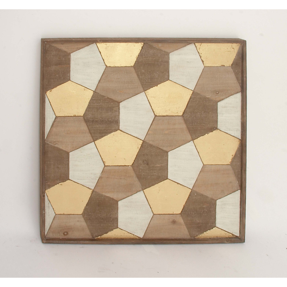 Beautiful Pentagon Shaped Wall Plaque by Benzara