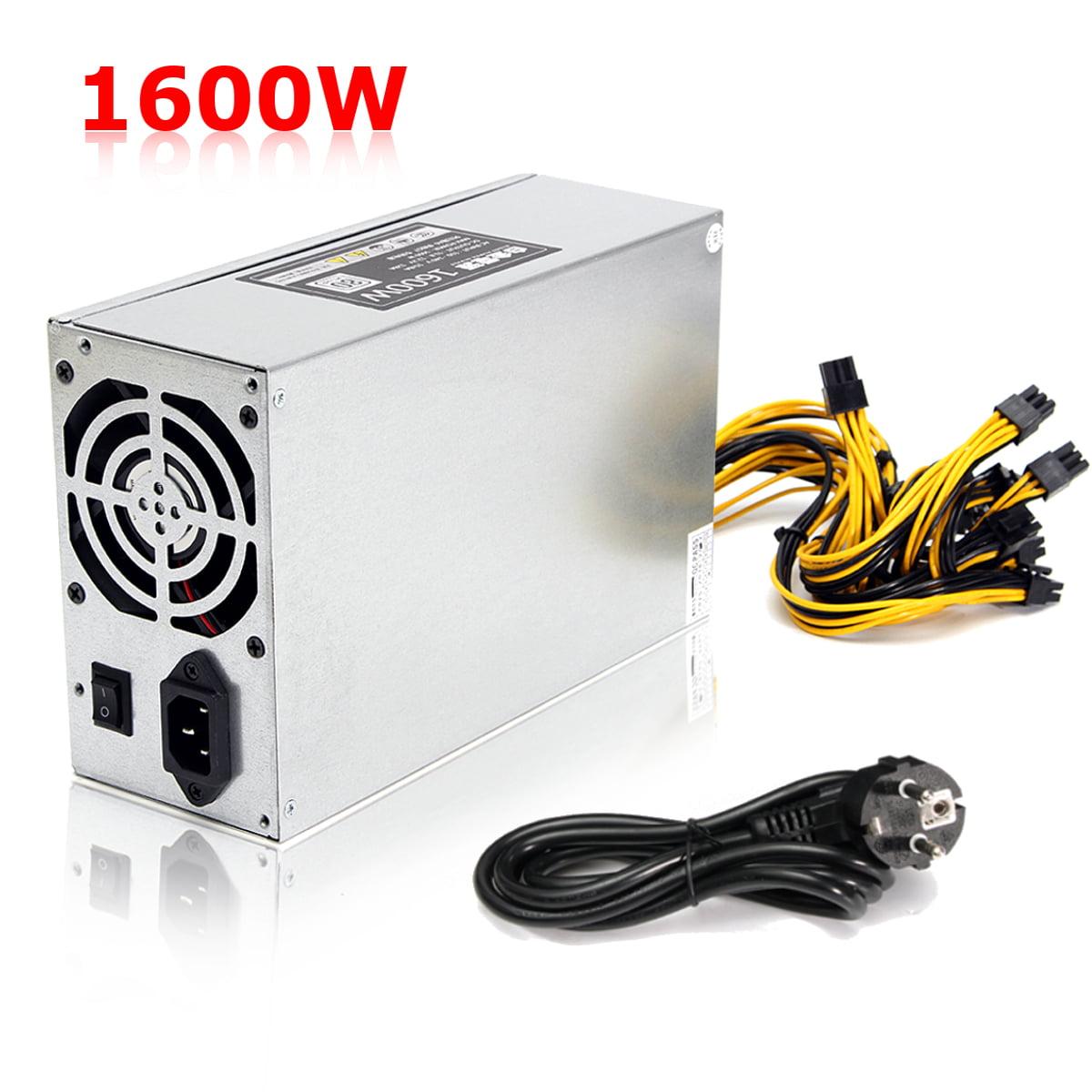 Bitcoin Miner Mining Power Supply Machine For 6 GPU bitcoin miner ETH BTC Rig S7 S9 1600W