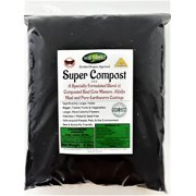 Super Compost 8 Lb. Bag makes 40 Lbs. Organic Fertilizer, Planting Mix, Plant Food, Soil Amendment. A Special Blend of Worm Castings, Composted Beef Cow Manure & Alfalfa 2-2-2 NPK + Calcium, Iron.