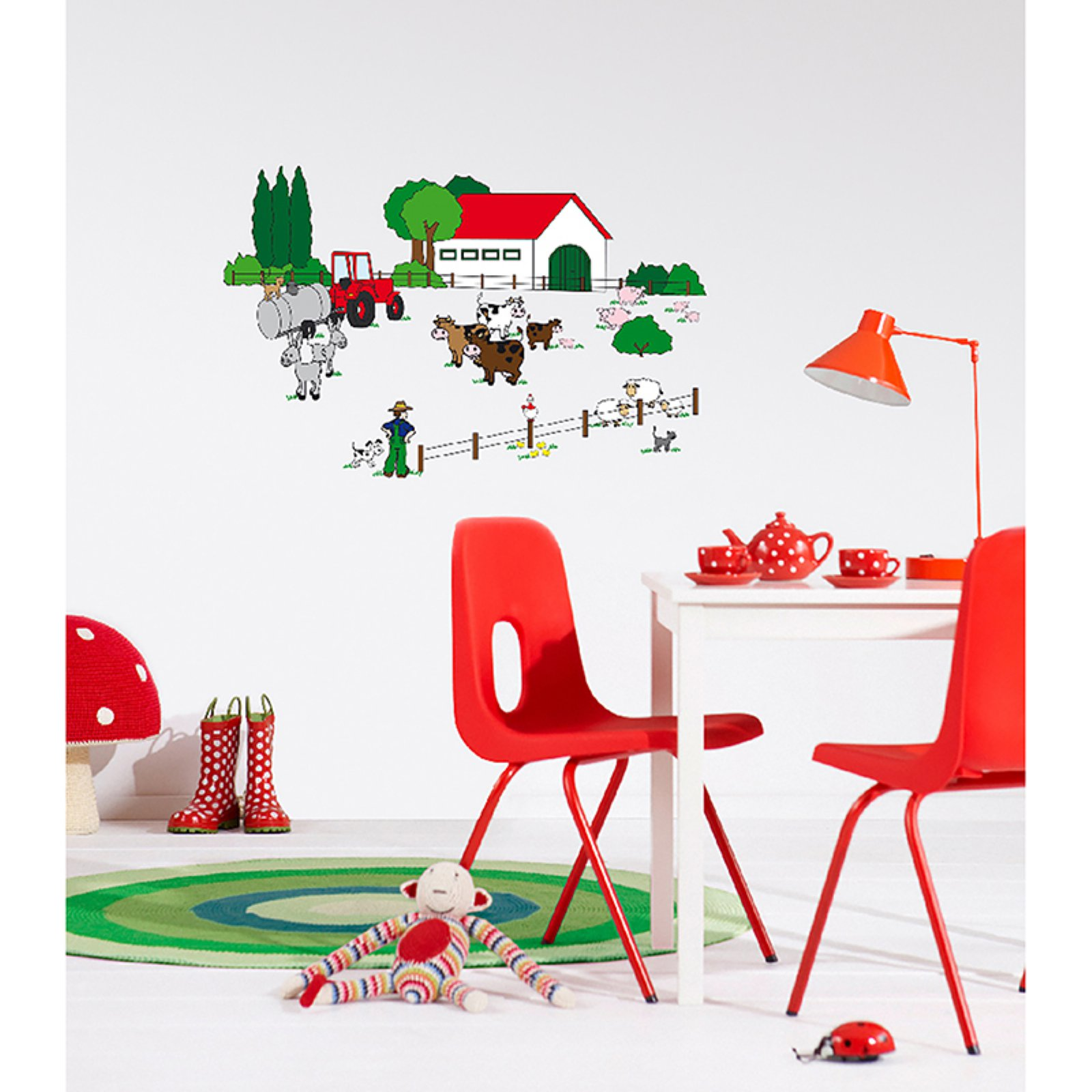 Ideal Decor The Farm Wall Decals