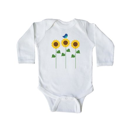 Sunflower Garden and bird Long Sleeve - Garden Onesie