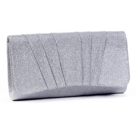 Damara Womens Perfectly Pleated Clutch Party bagssilver - image 1 of 1