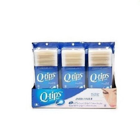 Q Tips Cotton Swab Size 625Ct  Pack Of 3 By Unilever