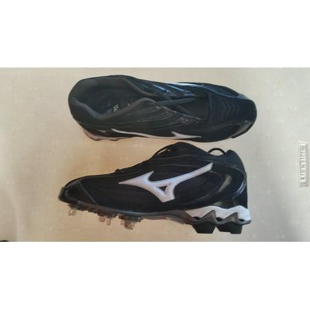 New Mizuno Vapor Elite 7 320443 Size Mens 10 Baseball Metal Cleats Black/White
