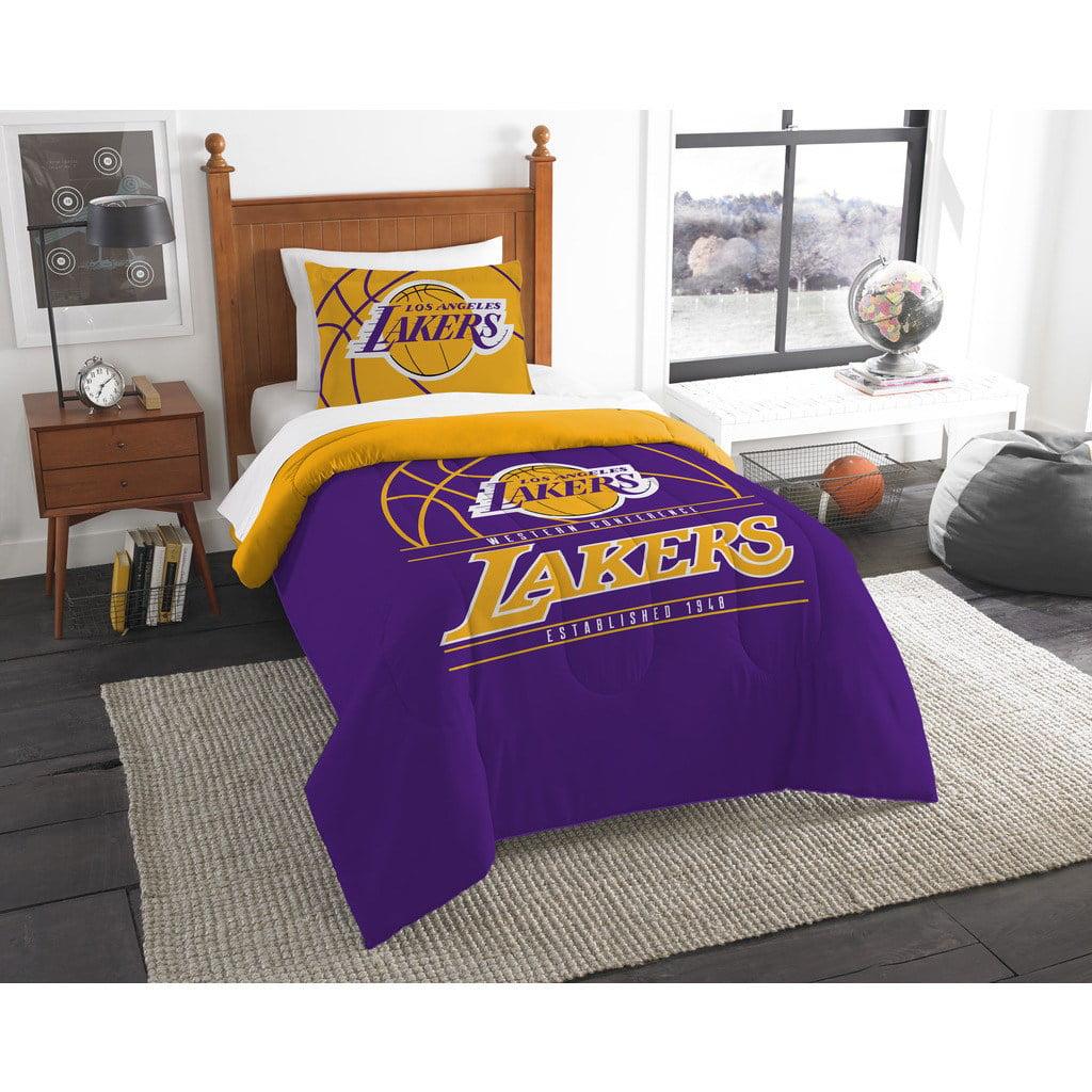 Nba Los Angeles Lakers Reverse Slam Bedding Comforter Set Walmart Com Walmart Com