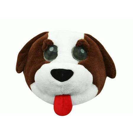 Cute Plush Dog Animal Puppy Overhead Doggy Mask Adult Costume Accessory Funny - Overhead Masks
