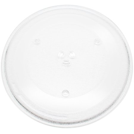 "Microwave Glass Plate Replacement for Panasonic Microwaves - Compatible with Panasonic F06014T00AP, Panasonic NNT695SF, Panasonic NNT664SFX, Panasonic NNT664SF, Panasonic NNSN668W - 13 1/2"" (345mm) - image 1 of 4"