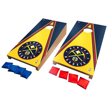Denver Nuggets Desktop Triangle Cornhole Game Set - No (Triangle Nugget)