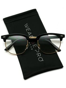 97c6ef926 Product Image Vintage Inspired 80s Half Frame Clear Lens Hipster Nerd  Glasses