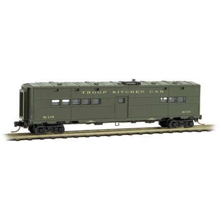Micro-Trains MTL N-Scale US Military Pullman Green Army Troop Kitchen Car #K-115