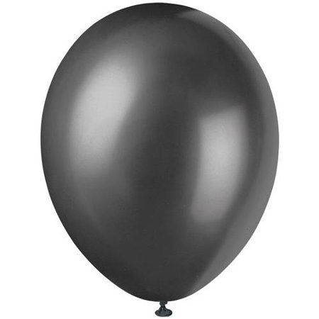 Pearlized Latex Balloons, 12 in, Ink Black, 50ct