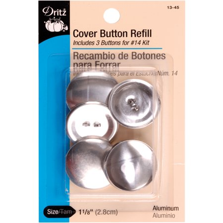 Dritz cover button refill for 14 kits size 45 3 ct for Dritz craft cover button kit size 36