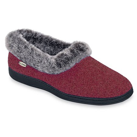 Womens ACORN Women's Flower Slipper with Faux Chinchilla Lining Factory Outlet Size 40