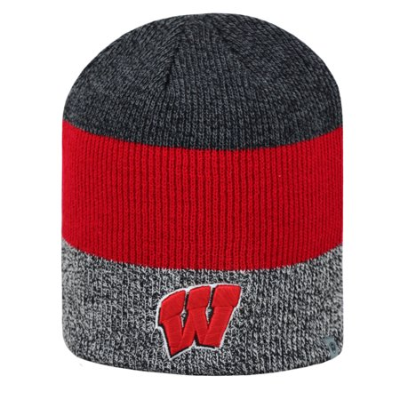 Wisconsin Badgers Official NCAA Sunset Uncuffed Knit Beanie Stocking Hat 279880