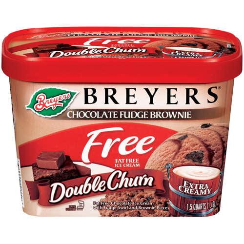 Good Humor Breyers Double Churn Ice Cream, 1.5 qt