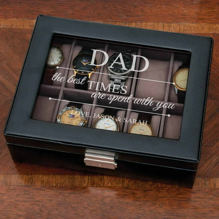 Personalized The Best Times Watch Case - Gift for Dad ()
