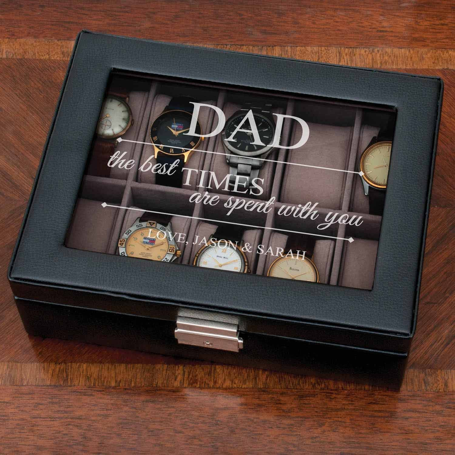 Personalized The Best Times Watch Case - Gift for Dad
