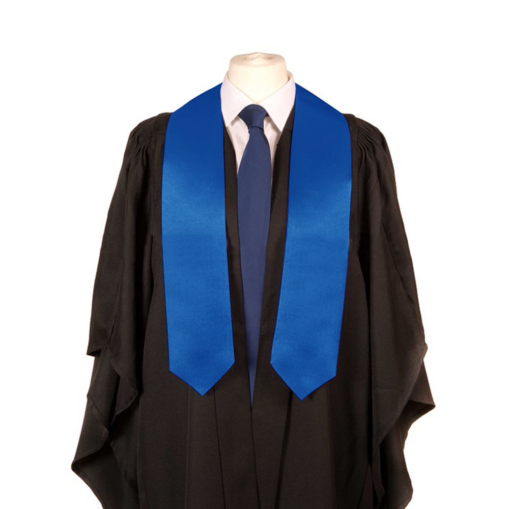 TOPTIE Unisex Plain Graduation Stole for Adult 60 Long-Gold-1pc