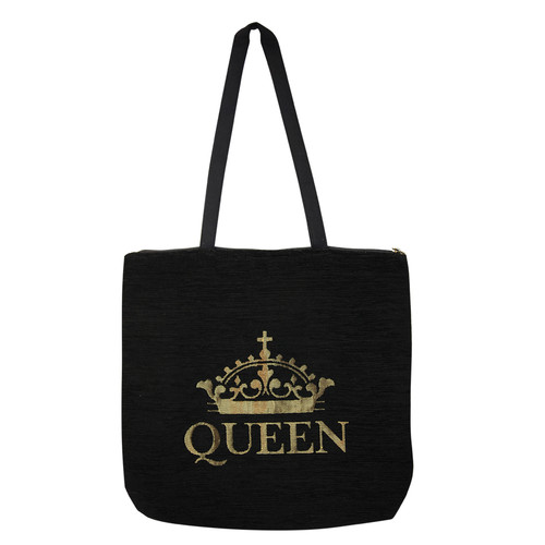 African American Expressions Queen Woven Tote Bag
