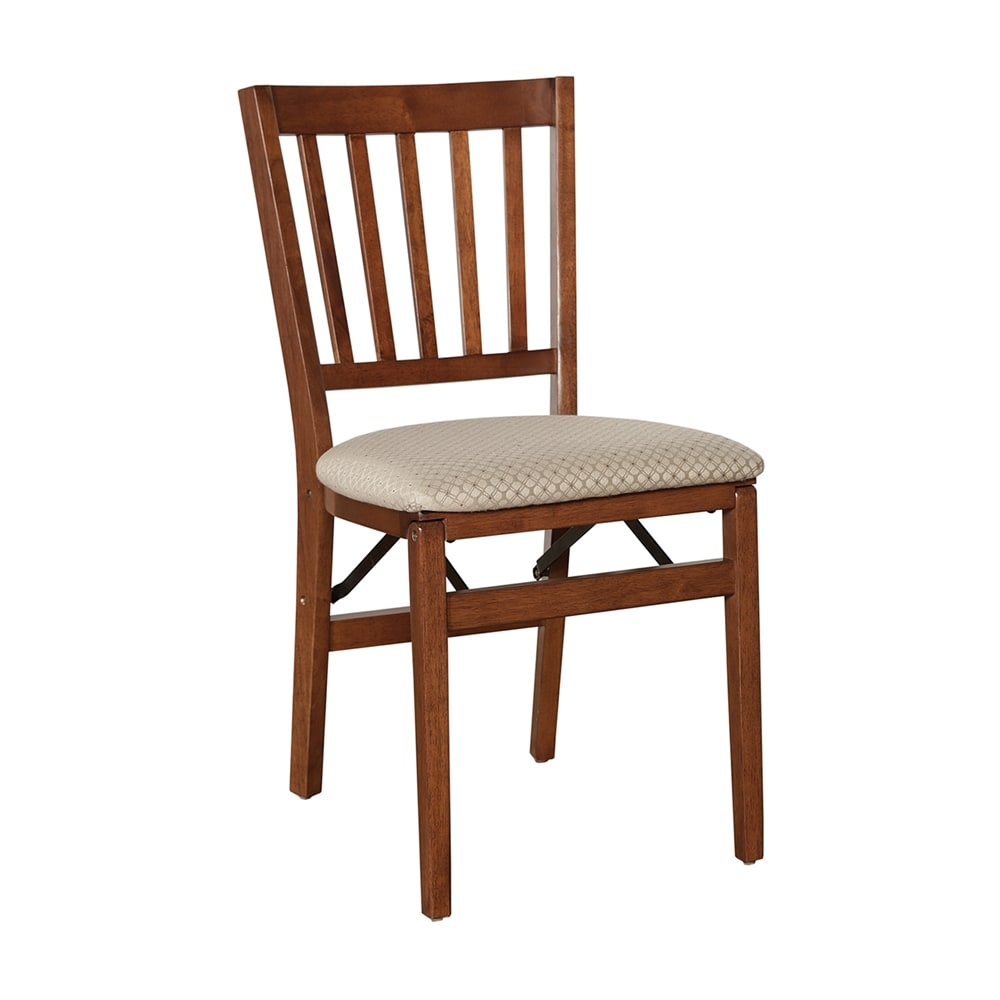 School House Folding Hardwood chair - Light Cherry