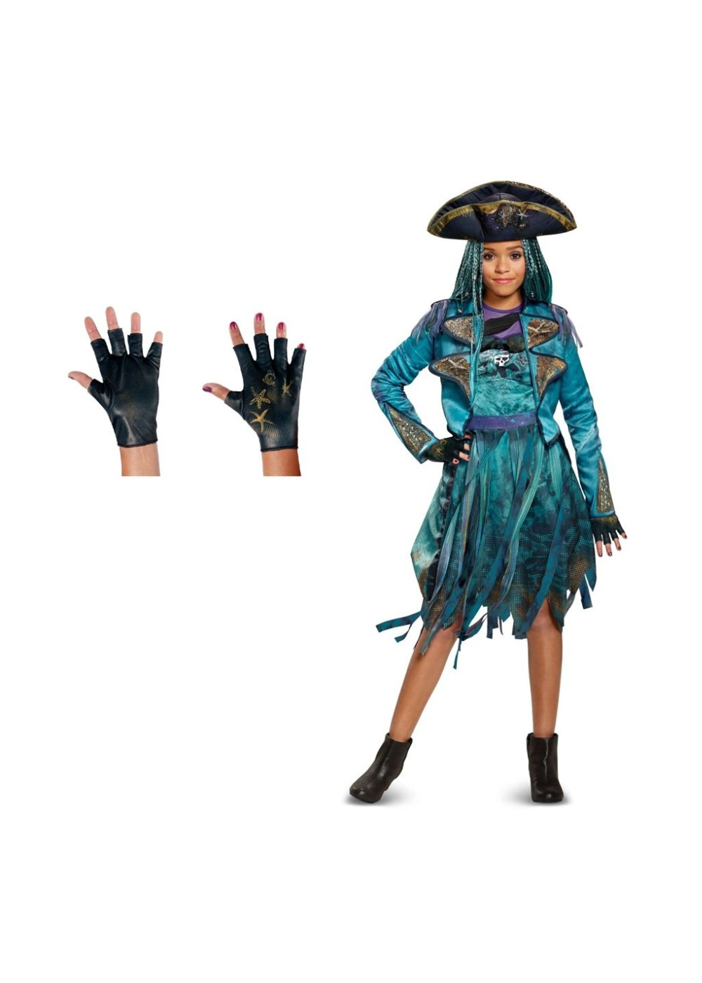 Girls Descendants 2 Uma Costume and Gloves