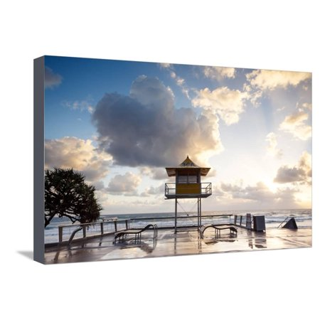 Australian Foreshore Early Morning (Gold Coast, Surfers Paradise, Qld, Australia) Stretched Canvas Print Wall Art By Pawel (Garden City Qld)