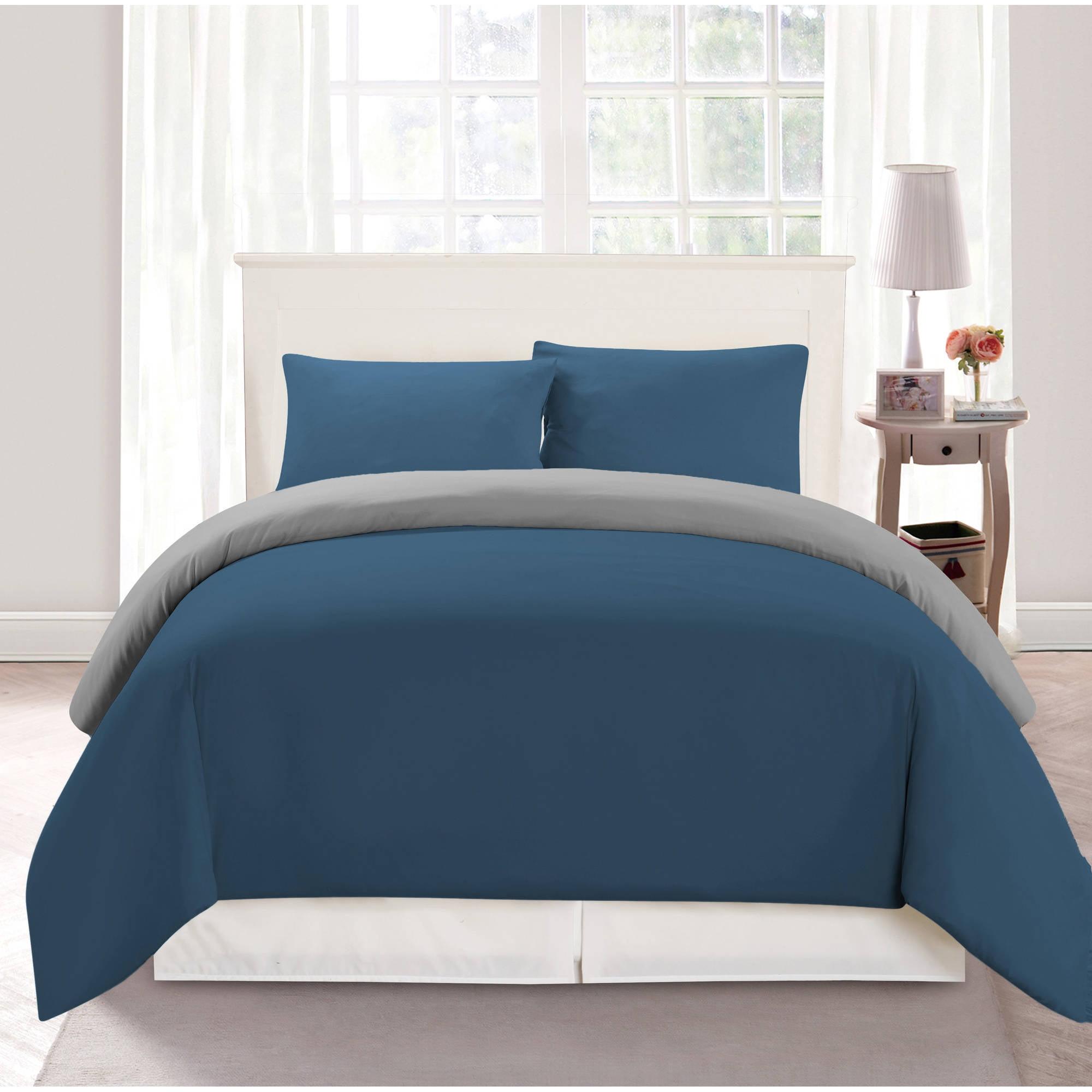 Bedroom Lighting Walmart Red And Blue Bedroom Teenage Bedroom Accessories Very Tiny Bedroom Design Ideas: Samantha Twin 2 Piece Comforter Set In Blue-Light Grey