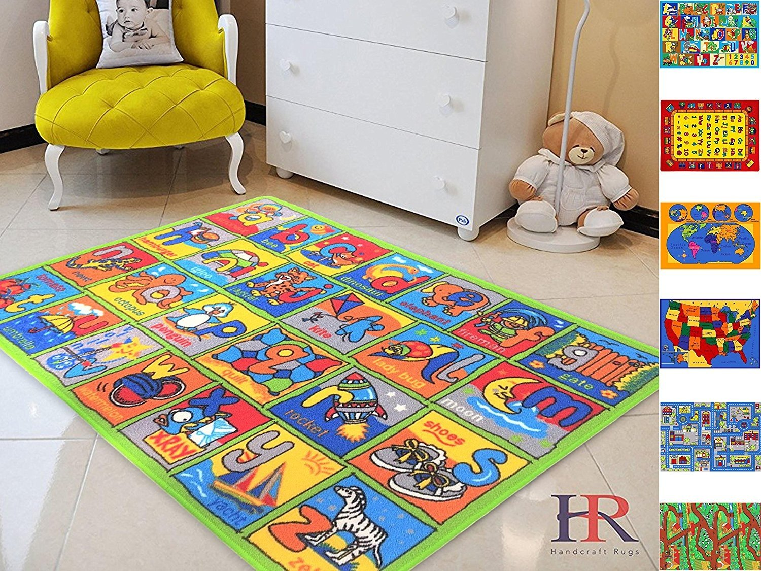 Handcraft Rugs Great for Playing with Cars and Toys Play Learn and Have Fun Safely Kids Rug Carpet Educational... by Handcraft Rugs