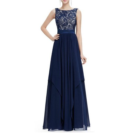 Women Chiffon Cocktail Summer Boho Long Maxi Dress Full Length Wedding Bridesmaid Evening Formal Party Prom Ball Gown Chiffon Empire Beaded Bodice Dress
