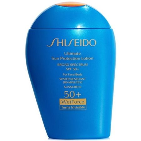 Shiseido Sun Ginza Tokyo Ultimate Sun Protection Lotion SPF 50+(Turns Invisible) (Best Sunblock For Face Under Makeup)