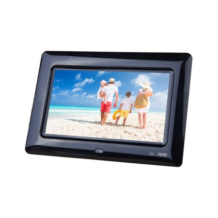 7 Digital Photo (7'' HD TFT-LCD Digital Photo Frame with Slideshow Clock MP3 MP4 Movie Player with Remote)