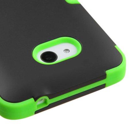 Insten Tuff Hard Dual Layer Silicone Case For Microsoft Lumia 640(Metro PCS)/640(T-mobile) - Black/Green - image 1 de 5