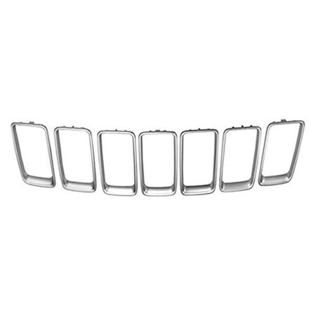 Jeep Grand Cherokee 2014-2016 Replace CH1210117 Grille Trim Ring Set