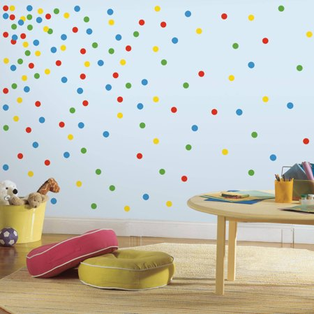 - Primary Confetti Dots Peel and Stick Wall Decals