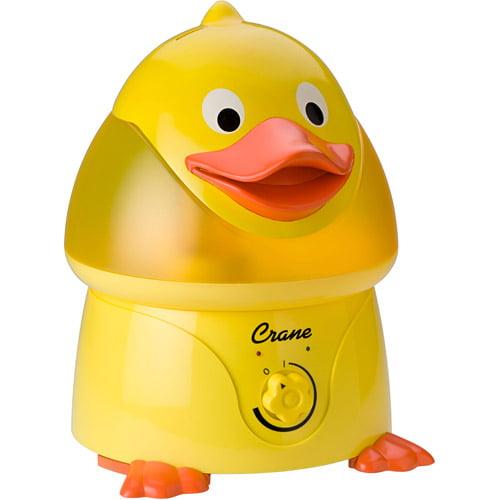 Crane Ultrasonic Cool Mist 1-Gallon Humidifier, Duck