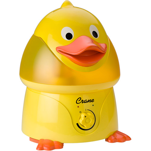 Crane Ultrasonic Cool Mist 1-Gallon Humidifier, Duck