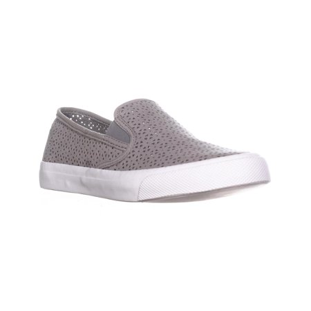 Womens Sperry Top-Sider Seaside Perforated Slip On Fashion Sneakers, Rose Dust, 7 US / 37.5 EU