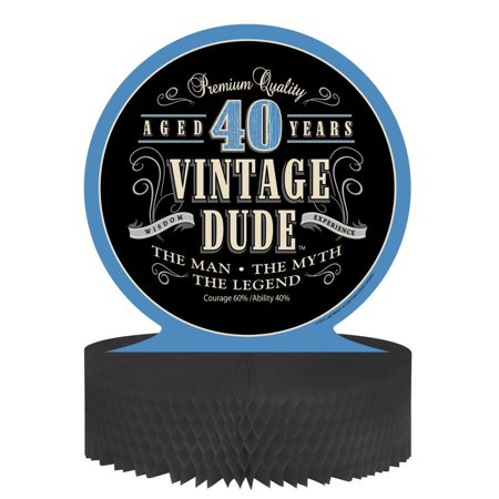 Creative Converting Vintage Dude 40th Birthday Centerpiece](Vintage Dudes)