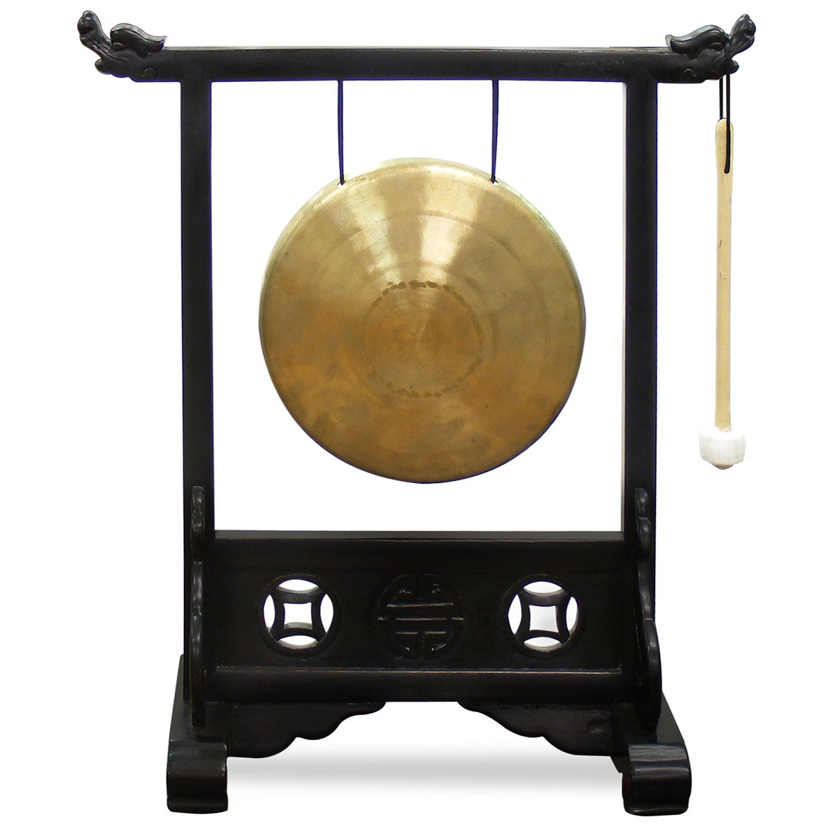 China Furniture and Arts Chinese Gong Bell with Stand