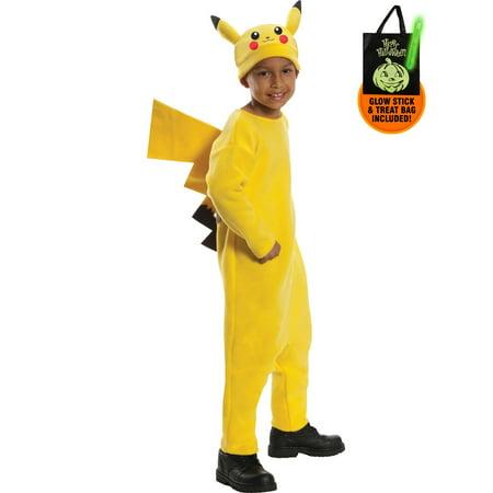 Boys Deluxe Pokemon Pikachu Costume Treat Safety Kit](Costume Supercenter Canada)