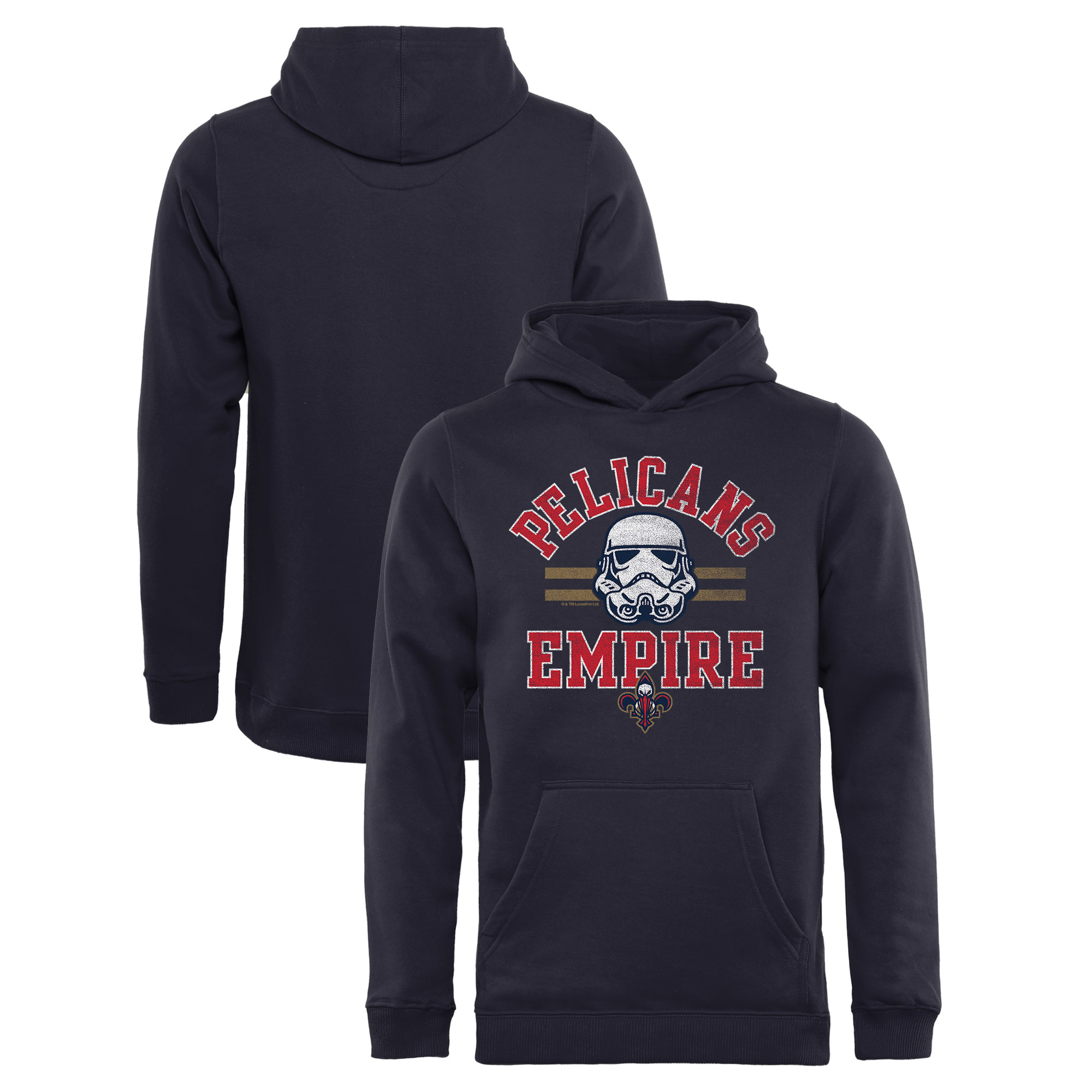 New Orleans Pelicans Fanatics Branded Youth Star Wars Empire Pullover Hoodie - Navy